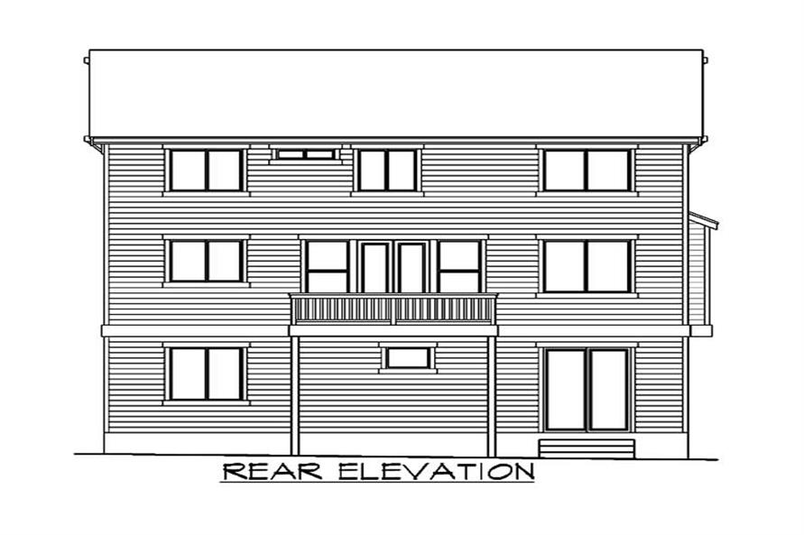 Home Plan Rear Elevation of this 5-Bedroom,3716 Sq Ft Plan -115-1026