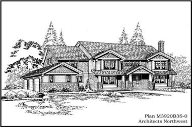 4-Bedroom, 4010 Sq Ft Ranch Home Plan - 115-1027 - Main Exterior