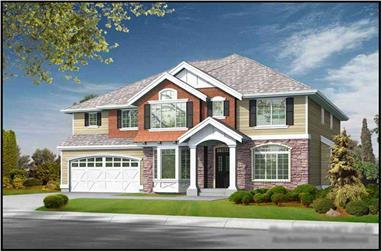 5-Bedroom, 4430 Sq Ft Craftsman House Plan - 115-1029 - Front Exterior