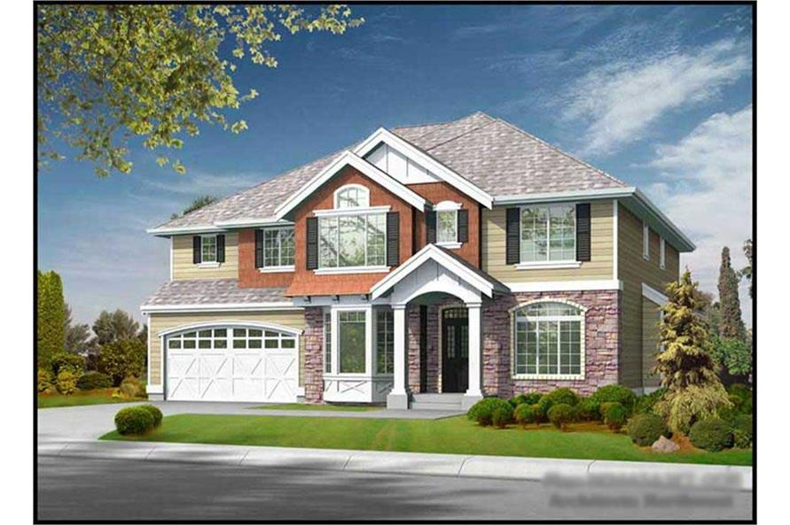 5-Bedroom, 4430 Sq Ft Craftsman House Plan - 115-1029 - Front Exterior