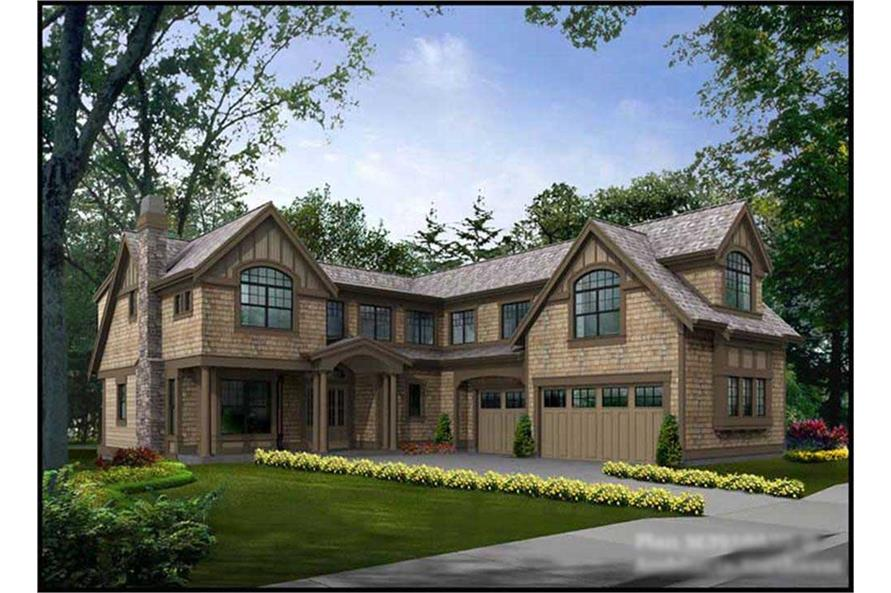 4-Bedroom, 3919 Sq Ft Multi-Level Home Plan - 115-1030 - Main Exterior