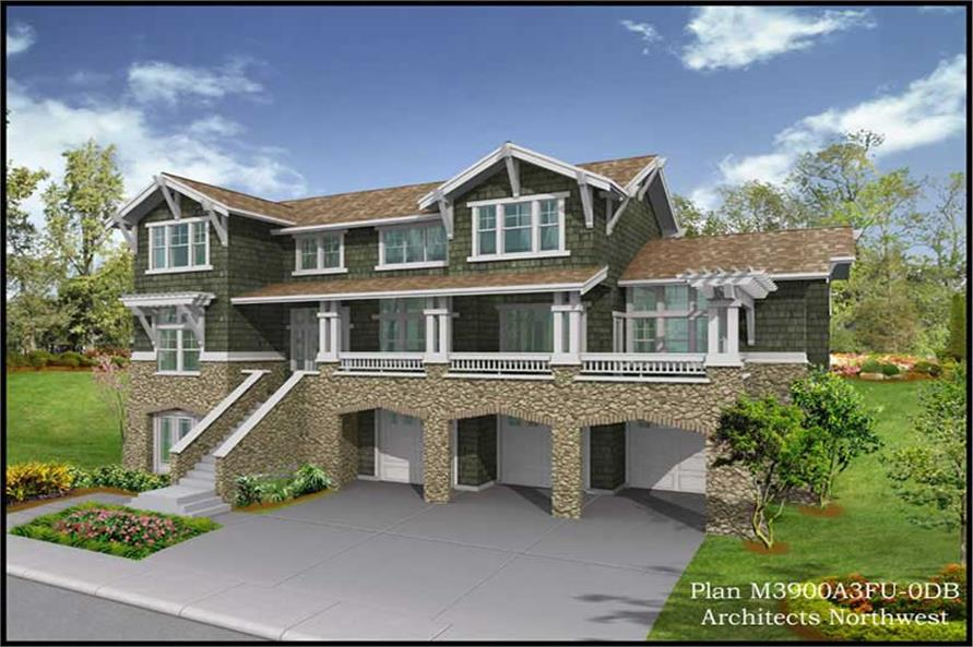 Exterior Photo of this 4-Bedroom,3900 Sq Ft Plan -3900