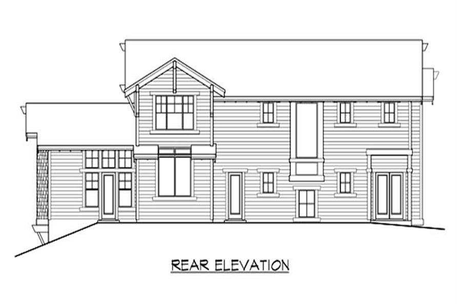 Home Plan Rear Elevation of this 4-Bedroom,3900 Sq Ft Plan -115-1031