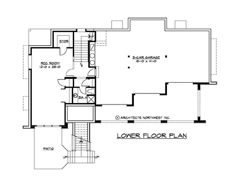 Multi level home plan 4 bedrms 4 baths 3900 sq ft for Multi level home plans