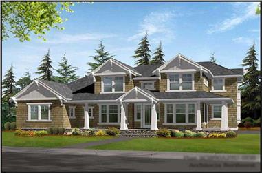3-Bedroom, 3890 Sq Ft Craftsman House Plan - 115-1032 - Front Exterior