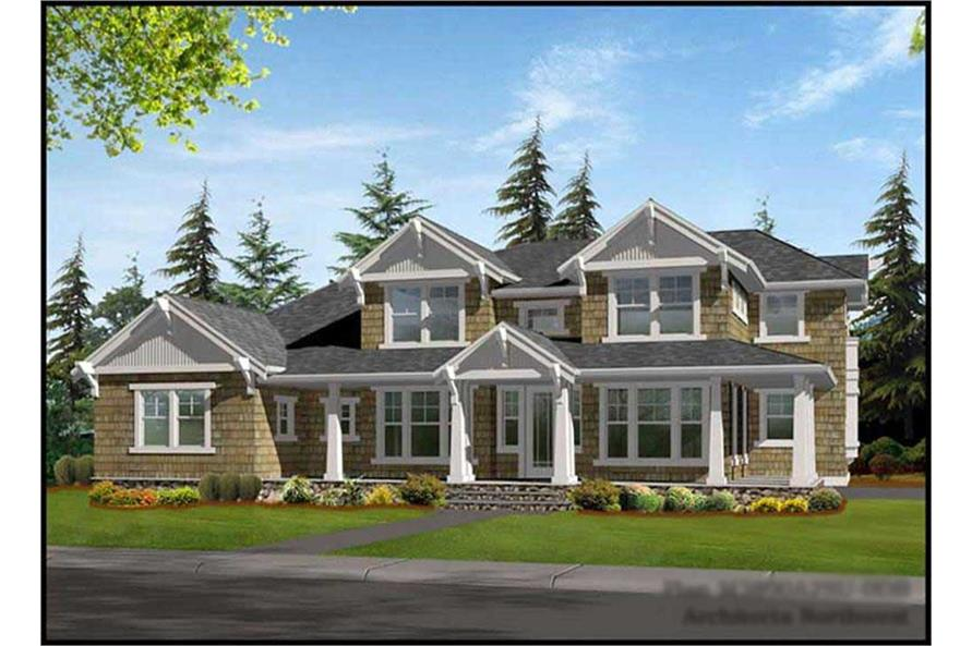 3-Bedroom, 3890 Sq Ft Craftsman House Plan - 115-1032 - Front Exterior