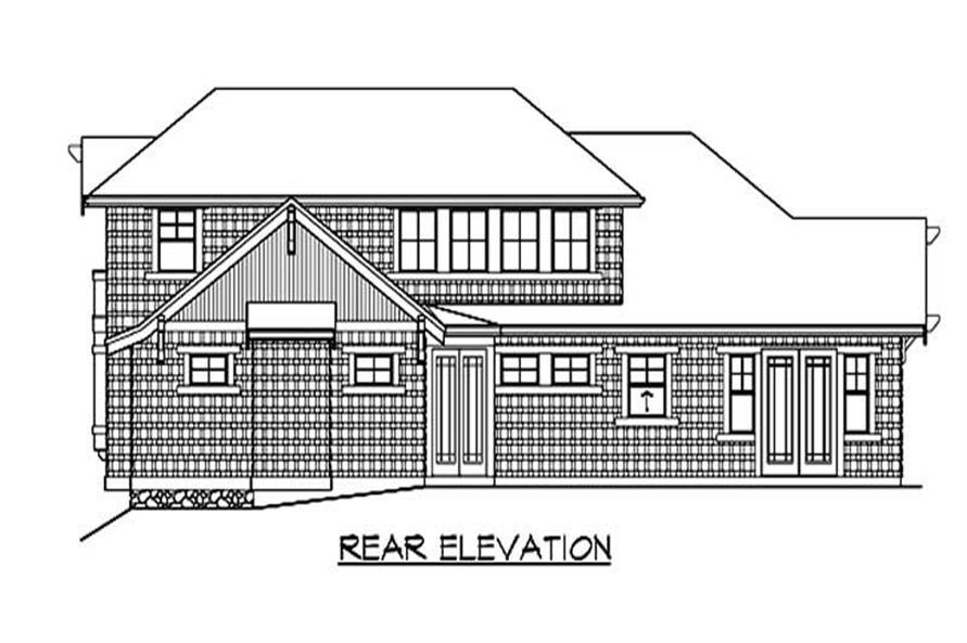 Home Plan Rear Elevation of this 3-Bedroom,3890 Sq Ft Plan -115-1032