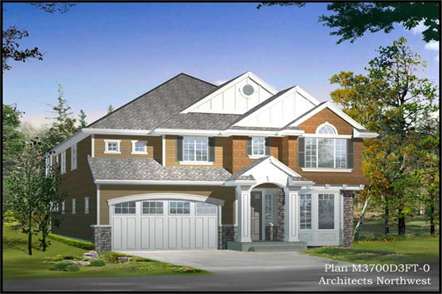4-Bedroom, 3703 Sq Ft Multi-Level House Plan - 115-1035 - Front Exterior