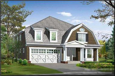 5-Bedroom, 3686 Sq Ft Ranch House Plan - 115-1036 - Front Exterior
