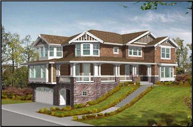 4-Bedroom, 3630 Sq Ft Multi-Level Home Plan - 115-1038 - Main Exterior