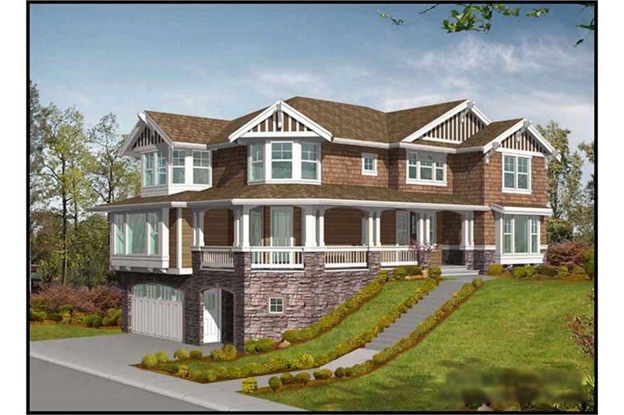 4-Bedroom, 3630 Sq Ft Multi-Level Home Plan - 115-1038 - Main Exterior