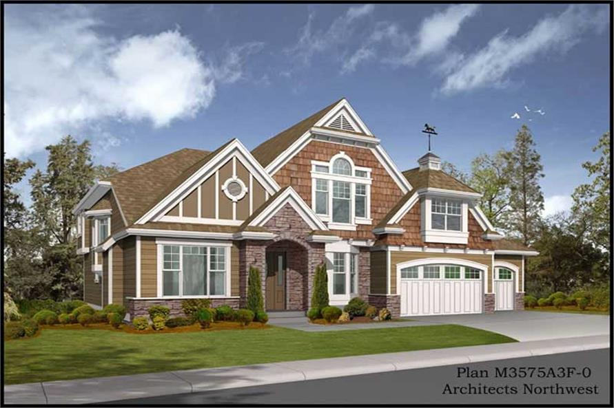 4-Bedroom, 3575 Sq Ft Multi-Level Home Plan - 115-1039 - Main Exterior