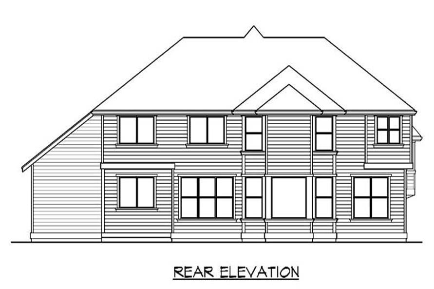 Home Plan Rear Elevation of this 4-Bedroom,3575 Sq Ft Plan -115-1039