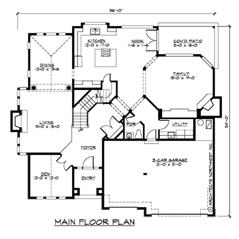 Craftsman traditional home with 4 bedrms 3570 sq ft for 1040 square foot house plans