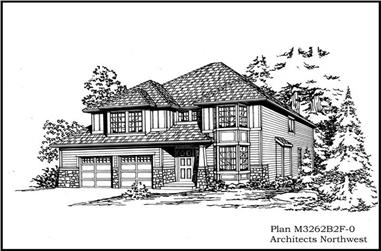 3-Bedroom, 2544 Sq Ft Craftsman Home Plan - 115-1048 - Main Exterior