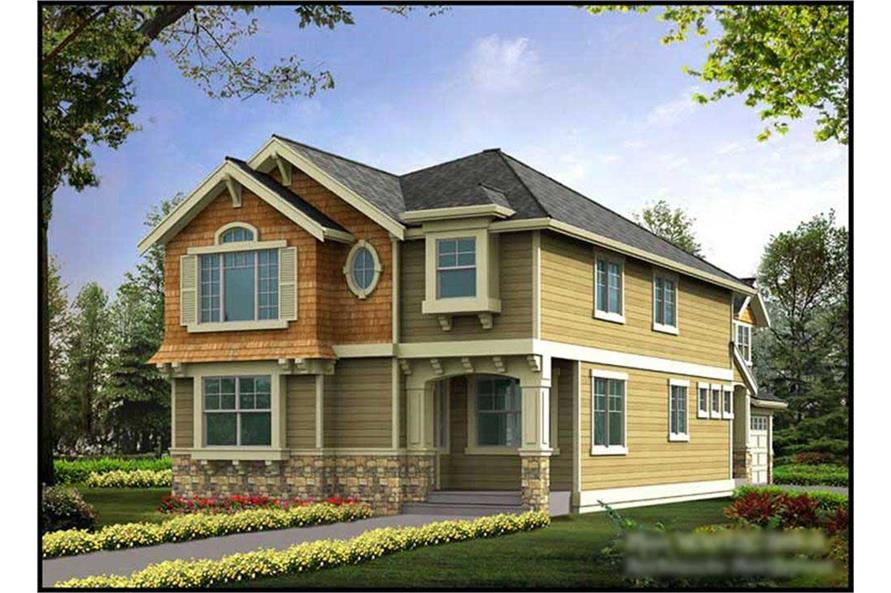 4-Bedroom, 3076 Sq Ft Craftsman Home Plan - 115-1049 - Main Exterior