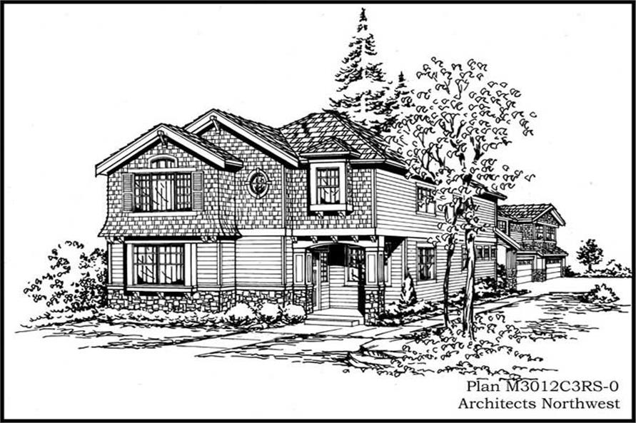 Exterior Photo of this 4-Bedroom,3076 Sq Ft Plan -3076