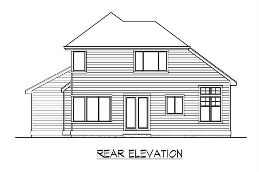 Home Plan Rear Elevation of this 3-Bedroom,1795 Sq Ft Plan -115-1057