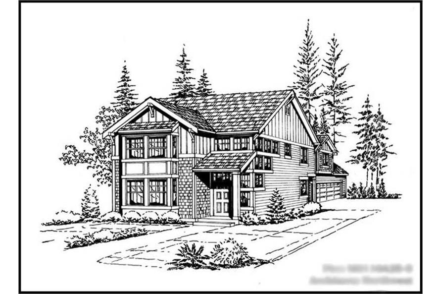 4-Bedroom, 2110 Sq Ft Multi-Level Home Plan - 115-1058 - Main Exterior