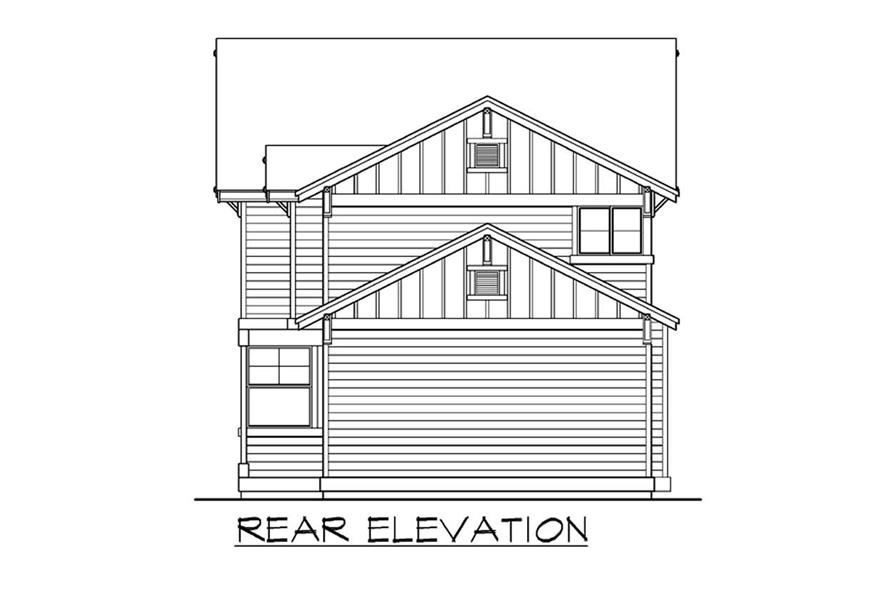Home Plan Rear Elevation of this 4-Bedroom,2110 Sq Ft Plan -115-1058