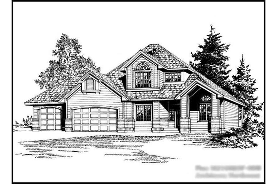 6-Bedroom, 3073 Sq Ft European Home Plan - 115-1059 - Main Exterior