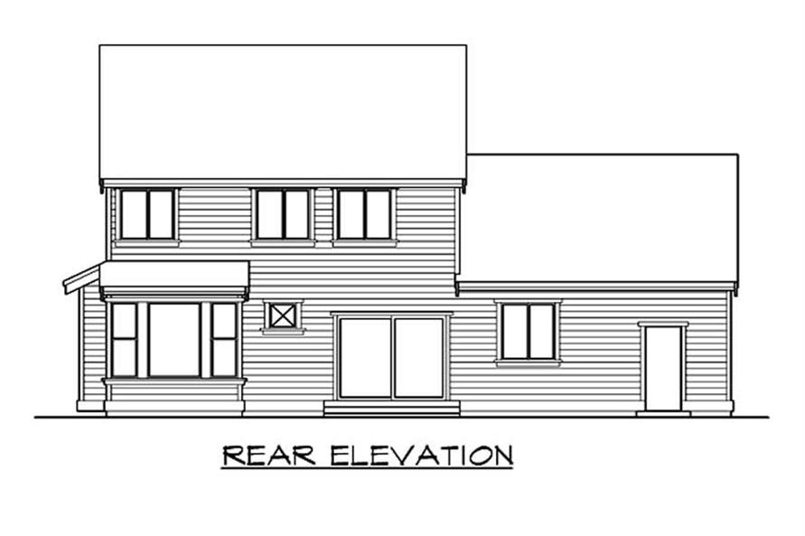 Home Plan Rear Elevation of this 4-Bedroom,2100 Sq Ft Plan -115-1060