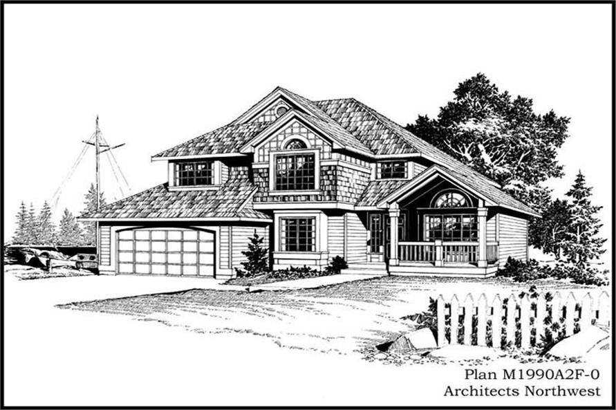 3-Bedroom, 1990 Sq Ft Country House Plan - 115-1062 - Front Exterior