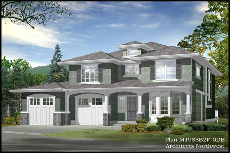 3-Bedroom, 2616 Sq Ft European House Plan - 115-1063 - Front Exterior