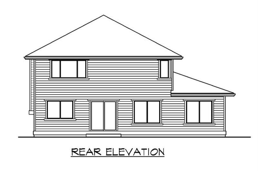 Home Plan Rear Elevation of this 3-Bedroom,2262 Sq Ft Plan -115-1064