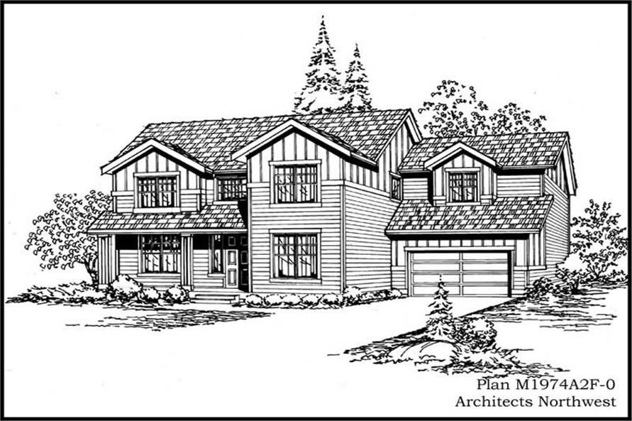 Front Elevation of this 3-Bedroom,1974 Sq Ft Plan -1974