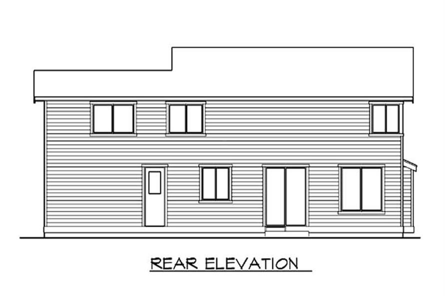 Home Plan Rear Elevation of this 3-Bedroom,1974 Sq Ft Plan -115-1066