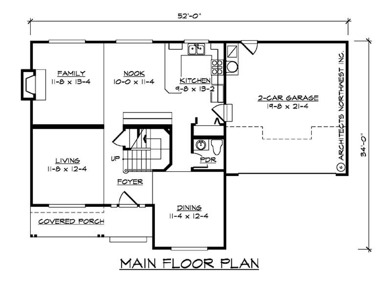 Multi level traditional home with 3 bedrms 1974 sq ft for Multi level home plans