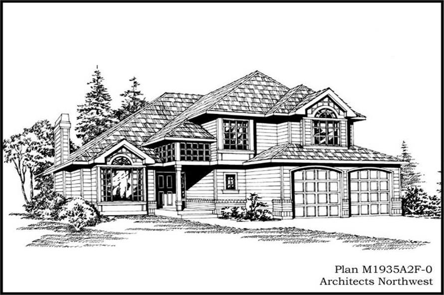 3-Bedroom, 1935 Sq Ft Craftsman House Plan - 115-1067 - Front Exterior