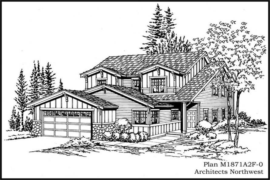 3-Bedroom, 1871 Sq Ft Craftsman House Plan - 115-1068 - Front Exterior