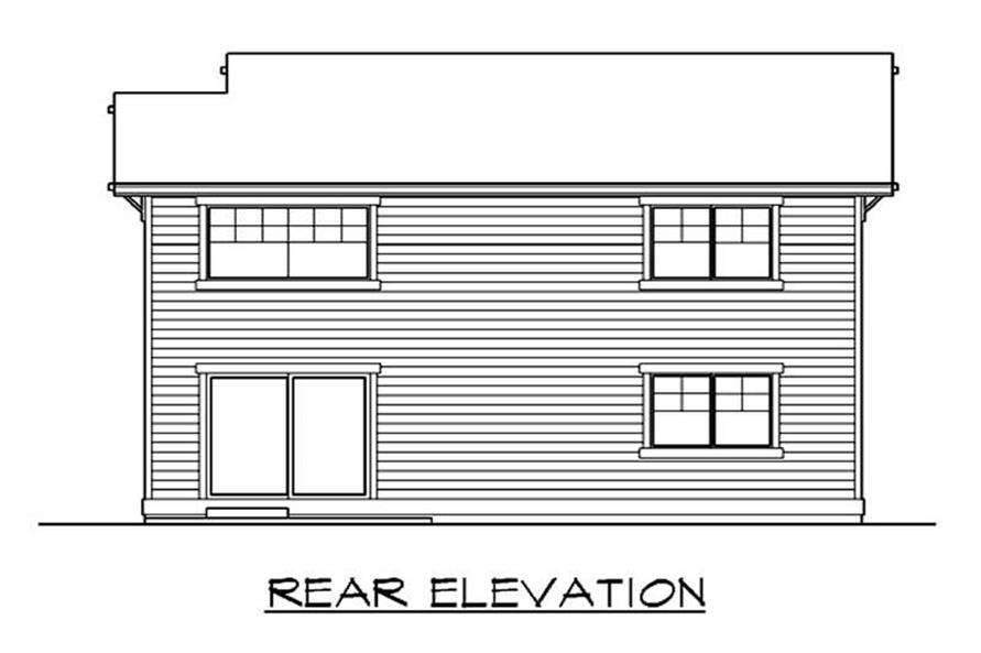 Home Plan Rear Elevation of this 3-Bedroom,1871 Sq Ft Plan -115-1068