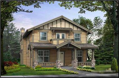 3-Bedroom, 2536 Sq Ft Craftsman Home Plan - 115-1069 - Main Exterior
