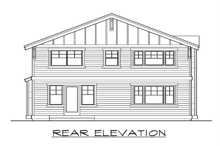 Home Plan Rear Elevation of this 3-Bedroom,2536 Sq Ft Plan -115-1069