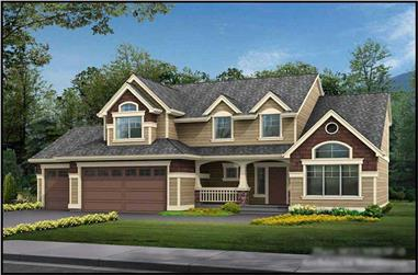 4-Bedroom, 2150 Sq Ft Cape Cod House Plan - 115-1071 - Front Exterior