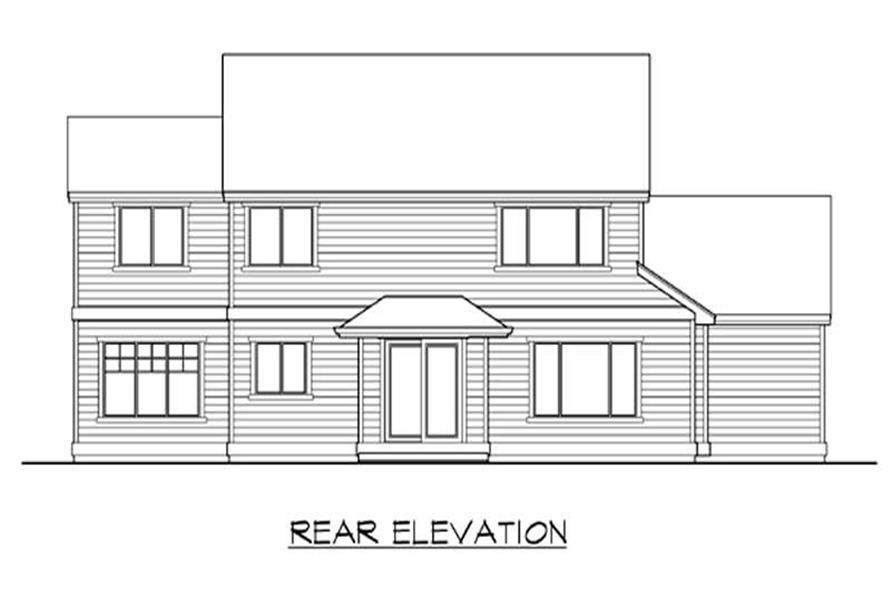 Home Plan Rear Elevation of this 4-Bedroom,2150 Sq Ft Plan -115-1071