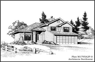 3-Bedroom, 1795 Sq Ft Craftsman Home Plan - 115-1072 - Main Exterior