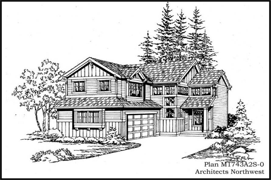 3-Bedroom, 1743 Sq Ft Multi-Level House Plan - 115-1075 - Front Exterior