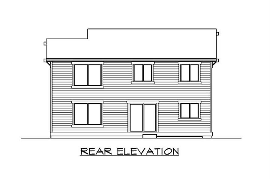 Home Plan Rear Elevation of this 3-Bedroom,1743 Sq Ft Plan -115-1075