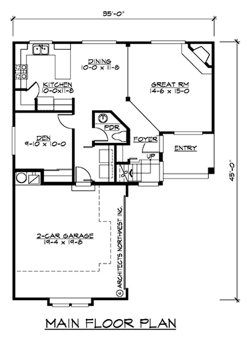 Multi level traditional home with 3 bedrms 1743 sq ft plan 115 1075 for Multi level floor plans