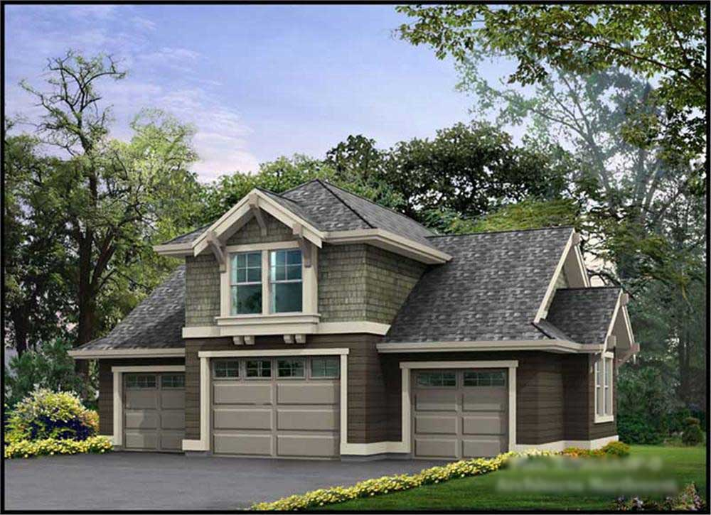 Garage W Apartments With 3 Car 1 Bedrm 679 Sq Ft: Garage W/Apartment With 3-Car, 0 Bedrm, 760 Sq Ft