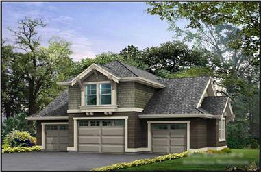 0-Bedroom, 760 Sq Ft Garage w/Apartments Home Plan - 115-1078 - Main Exterior