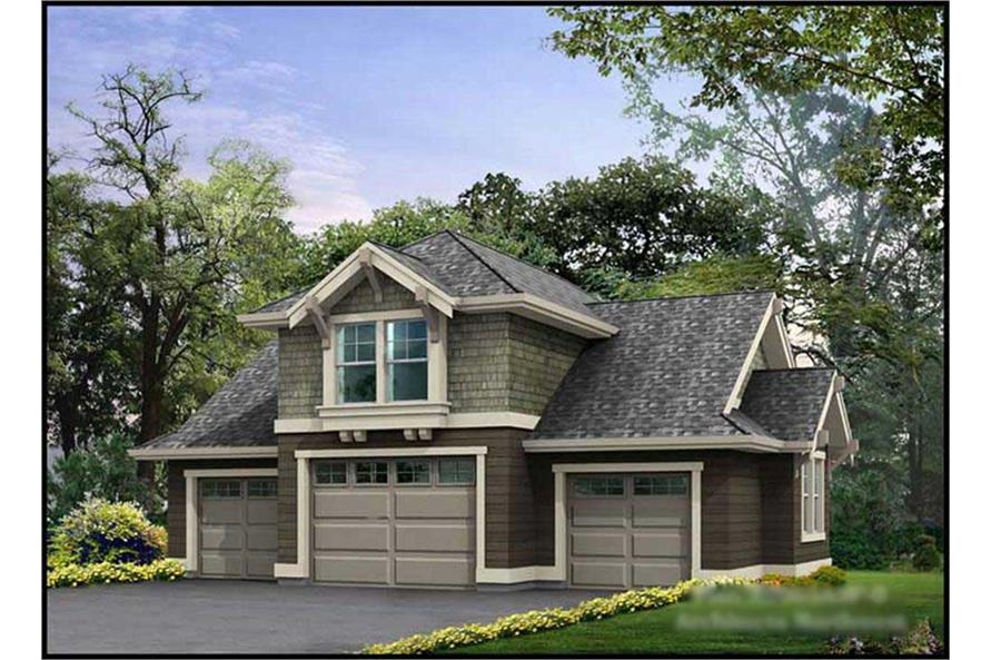0-Bedroom, 760 Sq Ft Garage w/Apartments Home Plan - 115-1078 - Main Exterior