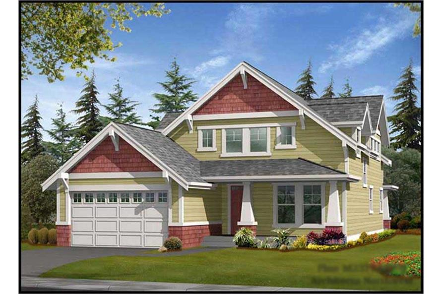 3-Bedroom, 2377 Sq Ft Ranch House Plan - 115-1092 - Front Exterior
