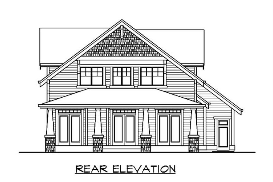 Home Plan Rear Elevation of this 3-Bedroom,2377 Sq Ft Plan -115-1092