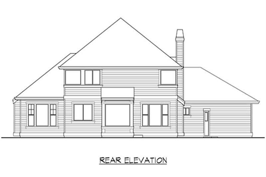 Home Plan Rear Elevation of this 4-Bedroom,2925 Sq Ft Plan -115-1093
