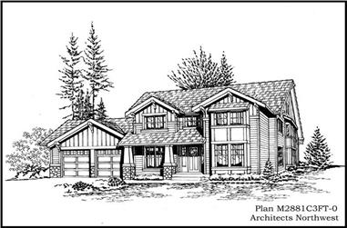 4-Bedroom, 2851 Sq Ft Ranch House Plan - 115-1094 - Front Exterior